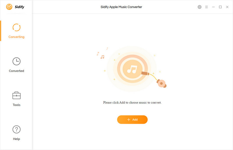Main interface of Sidify Apple Music Converter for Windows
