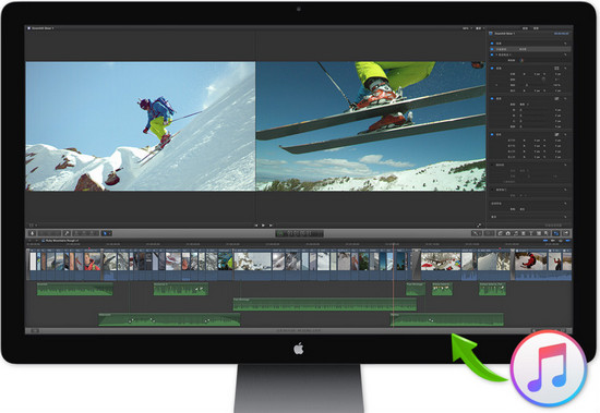 Add Apple Music into Final Cut Pro