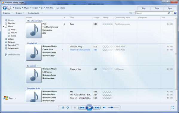 Play Spotify music on Windows Media Player