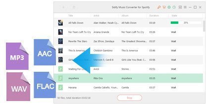Spotify music converter to MP3, M4A, M4B or WAV format